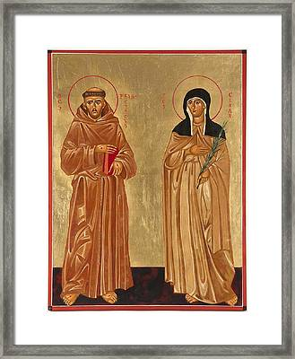 St. Francis Of Assisi And St. Clare Framed Print by Joseph Malham