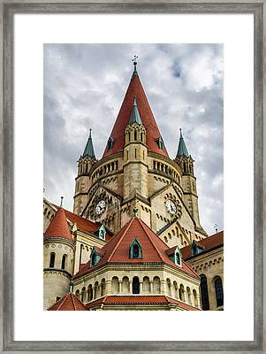 St. Francis Of Assisi Church In Vienna Framed Print