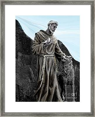 St Francis Of Assisi On Isabela In The Galapagos Framed Print