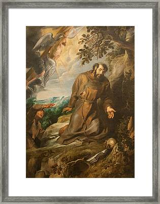 St. Francis Of Assisi Receiving The Stigmata Framed Print