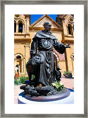 St Francis Of Assisi - Santa Fe Framed Print