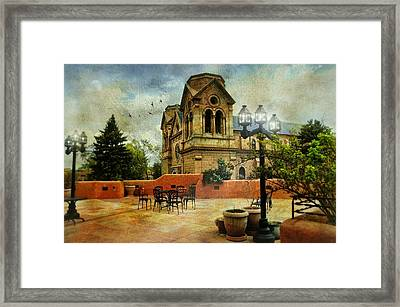 St. Francis Of Assisi Santa Fe Framed Print by Diana Angstadt