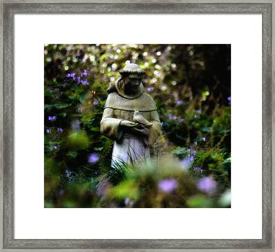 St. Francis Of Assisi Framed Print by Tara Miller