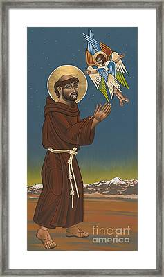 Framed Print featuring the painting St. Francis Patron Of Colorado 186 by William Hart McNichols