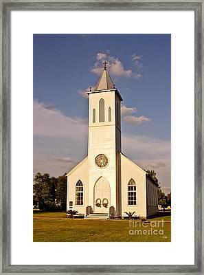 St. Gabriel The Archangel Catholic Church Framed Print by Scott Pellegrin
