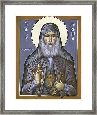 St Gabriel The Confessor Of Georgia Framed Print by Julia Bridget Hayes