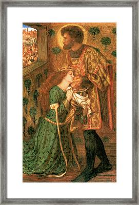 St George And The Princess Sabra Framed Print