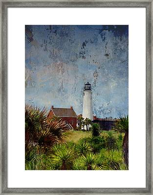 St. George Island Historic Lighthouse Framed Print by Carla Parris