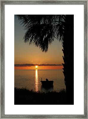 St. George Island Sunset Framed Print by Lynn Jordan