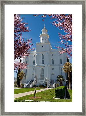St George Temple 5 Framed Print