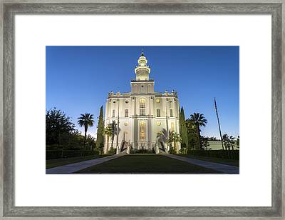 St. George Temple Framed Print