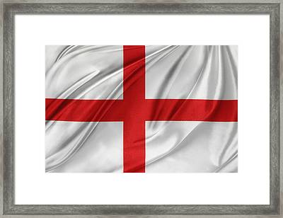 St George's Cross Framed Print by Les Cunliffe