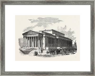St. Georges Hall, Liverpool, Principal Front Framed Print by English School