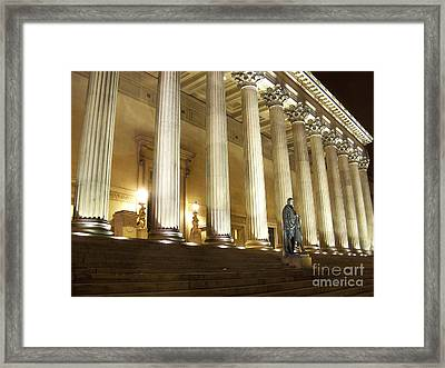 St. Georges Hall Liverpool Uk Framed Print