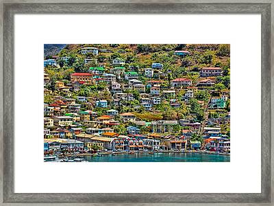 St. Georges Harbor Grenada Framed Print