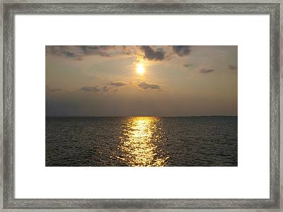 St George's Island Sunset Framed Print by Bill Cannon