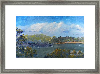 St Georges River Near Como Marina  Framed Print