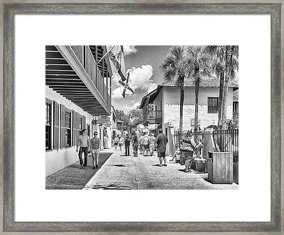 Framed Print featuring the photograph St. Geroge Street by Howard Salmon