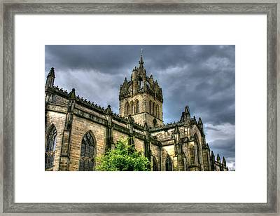 St Giles And Tree Framed Print