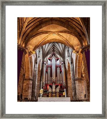 St. Giles Pipe Organ Framed Print
