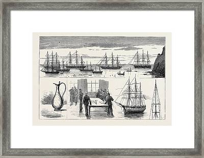 St. Helena The Detached Squadron At Anchor Framed Print by English School