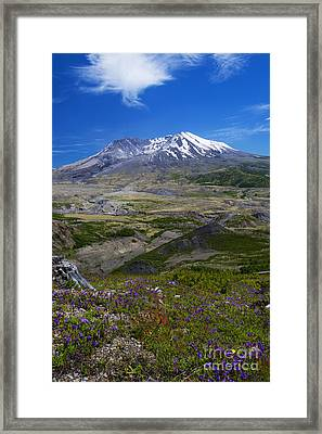 St. Helens Crater Framed Print by Mike Dawson