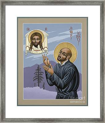 Framed Print featuring the painting St. Ignatius Amidst Alaska 141 by William Hart McNichols