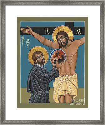 Framed Print featuring the painting St. Ignatius And The Passion Of The World In The 21st Century 194 by William Hart McNichols