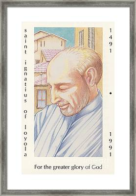 Framed Print featuring the painting St. Ignatius At Prayer In Rome by William Hart McNichols