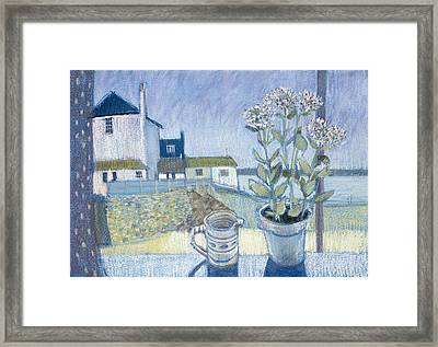 St. Ives Windowsill Mixed Media Framed Print by Felicity House
