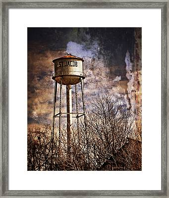 St. Jacob Water Tower 2 Framed Print by Marty Koch