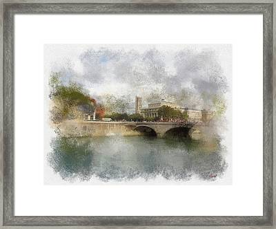 St. Jacques And Sarah Framed Print by Rick Lloyd