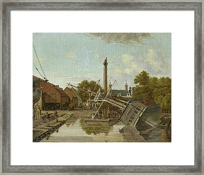 St Jago Shipyard On Bickers Island In Amsterdam Framed Print by Litz Collection