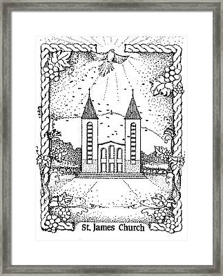 St James And Dove Framed Print