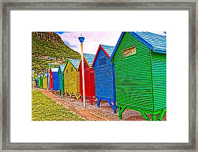 St James Beach Houses From Behind Framed Print by Cliff C Morris Jr