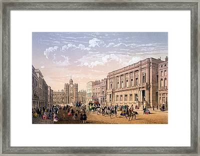 St James Palace And Conservative Club Framed Print
