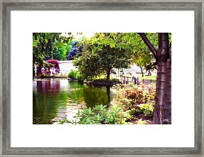 Framed Print featuring the digital art St James Park 1 by Helene U Taylor
