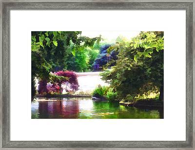 Framed Print featuring the digital art St James Park 2 by Helene U Taylor