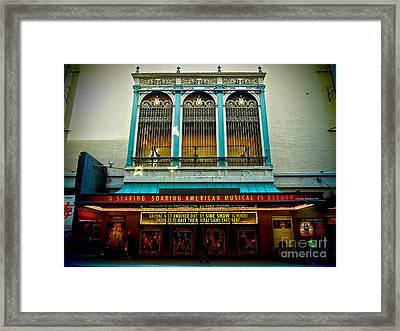 St. James Theatre Balcony Framed Print