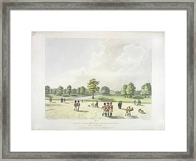 St James's Park In The Eighteenth Century Framed Print by British Library