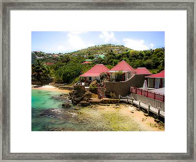 St. Jeans Beach Framed Print by Karen Wiles