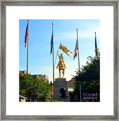 St Joan At Midday Framed Print
