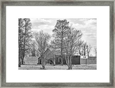 St Joe Louisiana Bw Framed Print by Steve Harrington