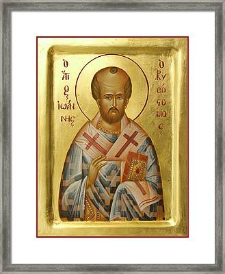 St John Chrysostom Framed Print by Julia Bridget Hayes