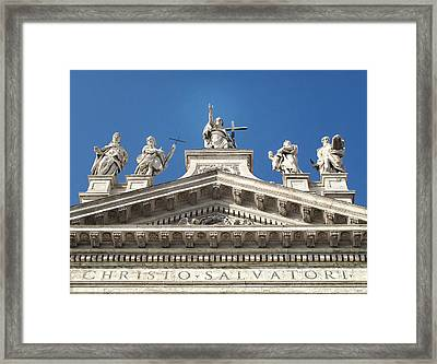 Framed Print featuring the photograph St. John Lateran by Joe Winkler