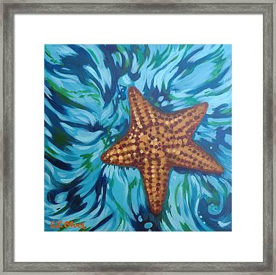 St John Starfish Framed Print by Elisabeth Olver