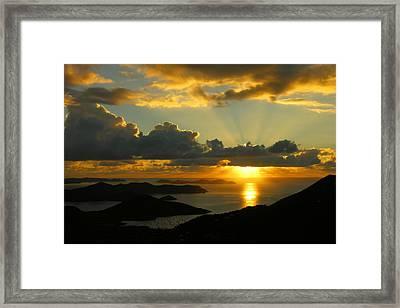 St. John Sunrise  Framed Print by Stephen  Vecchiotti