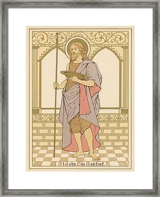 St John The Baptist Framed Print by English School