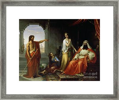St. John The Baptist Rebuking Herod Framed Print
