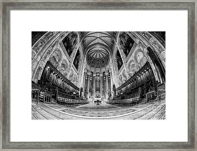 St John The Divine Sanctuary Bw Framed Print by Jerry Fornarotto